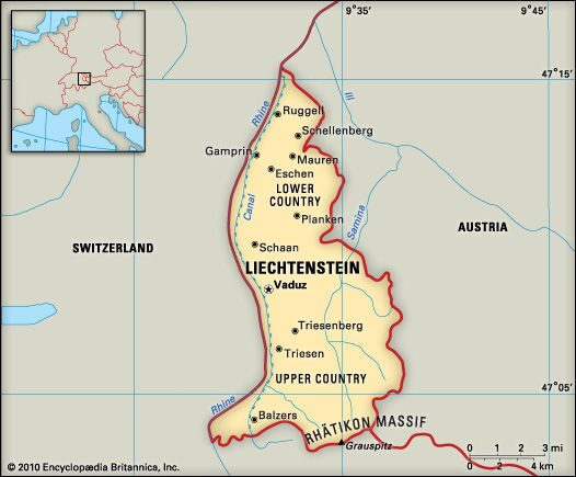 Liechtenstein-Map